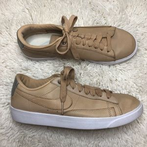 Nike Tan Leather Blazer Low SE Premium 7.5 Shoes
